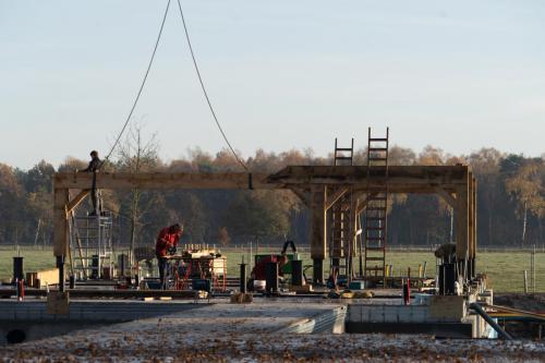 Verdere bouw op Wellenseind aan het gebouw voor Anker 1