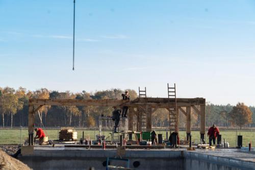 Verdere bouw op Wellenseind aan het gebouw voor Anker 2
