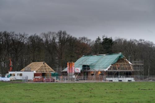 Verdere bouw op Wellenseind aan het gebouw voor Anker 6