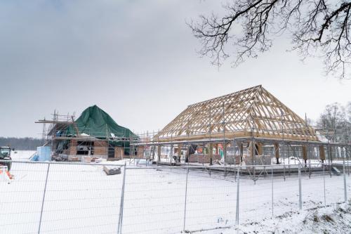 Verdere bouw op Wellenseind aan het gebouw voor Anker 4